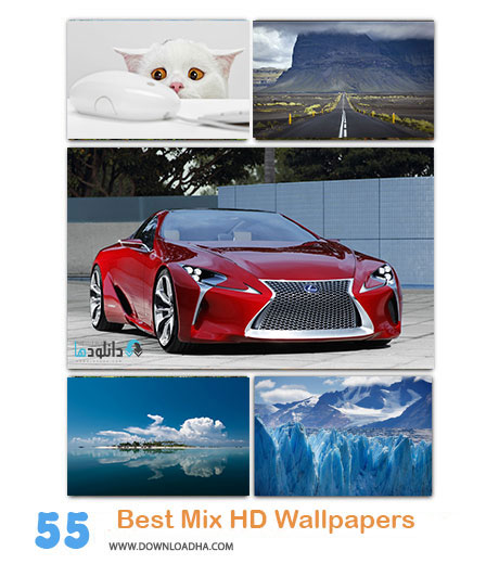 55 BestMix Wallpapers Cover(www.Downloadha.com) دانلود مجموعه 55 والپیپر متنوع برای دسکتاپ