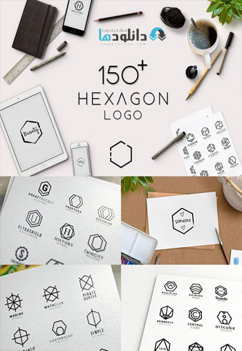 Minimal-Hexagon-Logo-Templates