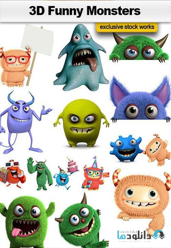 3D-Funny-Monsters