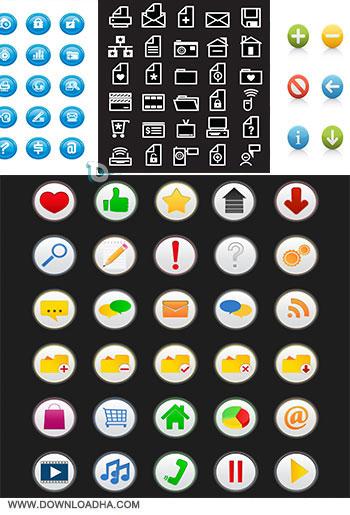 6 Vector icon مجموعه ۶ وکتور آیکون وب برای طراحی Vector Design Icon Web