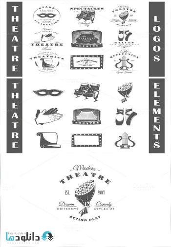 9 Theatre logos templates V  دانلود مجموعه آیکون  9Theatre logos templates icons