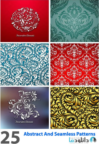 Abstract And Seamless Patte  دانلود تصاویر وکتور  Amazing ShtterStock Abstract And Seamless Patterns