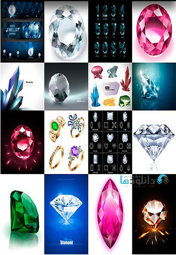 Amazing Shutter Stock Shiny Diamonds  دانلود تصاویر وکتور  Amazing Shutter Stock Shiny Diamonds