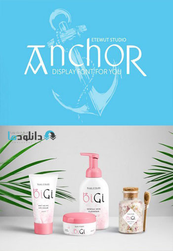 Anchor Display Font دانلود مجموعه فونت انگلیسی Anchor Font Family