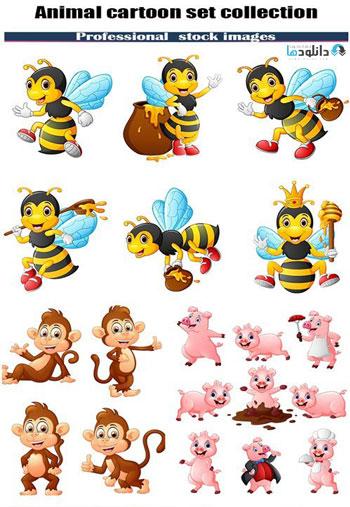 Animal-cartoon-set-collection