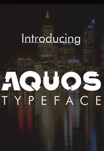 Aquos-Typeface