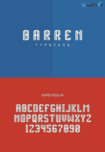 BARREN-TYPEFACE