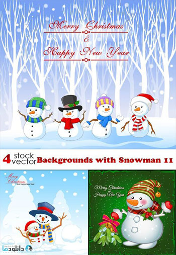 Backgrounds-with-Snowman