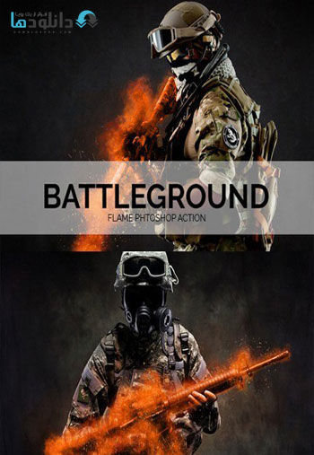 Battleground Flame Phtoshop دانلود اکشن فتوشاپ Battleground Flame Photoshop Action