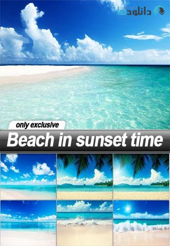 Beach-in-sunset-