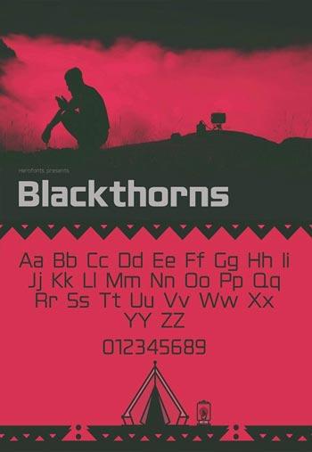 Blackthorns-Fonts