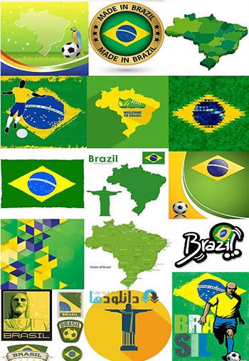 Brazil FIFA World Cup 2014  دانلود تصاویر وکتور  Brazil FIFA World Cup 2014