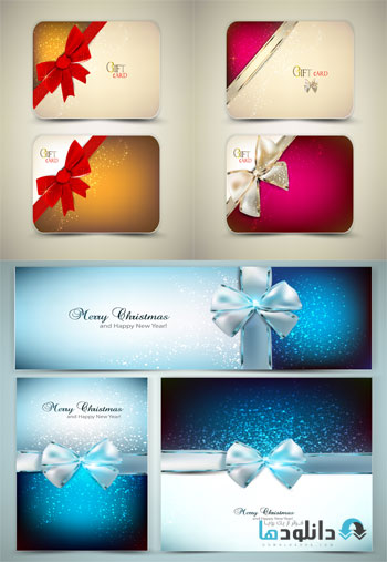 Christmas Cards And Banners  دانلود تصاویر وکتور  Christmas Cards And Banners