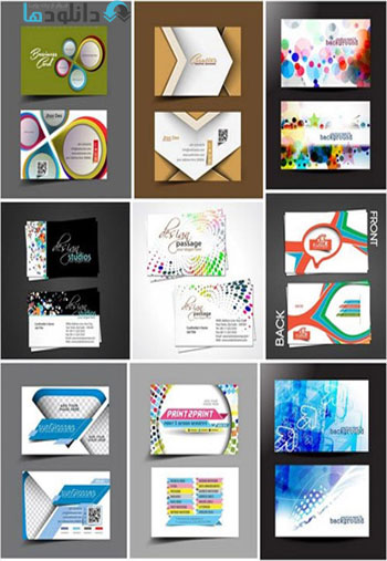 Creative Design Cards Colle دانلود تصاویر وکتور  Creative Design Cards Collection
