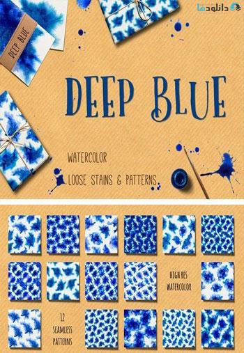 Deep-Blue-Watercolor-Patterns