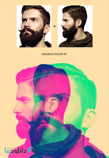 Double Color Exposure Photo دانلود اکشن فتوشاپ  Double Color Exposure Photoshop Action