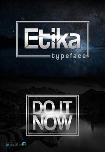 Etika Sans Serif Fonts دانلود مجموعه فونت انگلیسی Etika Font