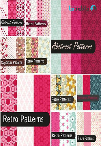 Fascinating Retro Patterns  دانلود تصاویر وکتور  Fascinating Retro Patterns