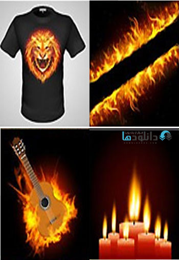 Fire And Flame Collection  دانلود تصاویر وکتور  Fire And Flame Collection
