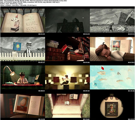 Flying Books cover دانلود انیمیشن کوتاه کتاب های پرنده آقای موریس لسمور – The Fantastic Flying Books of Mr. Morris Lessmore