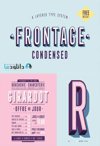 Frontage W00 Regular 100 Fonts Free Download