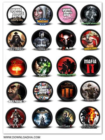 Game Icon دانلود مجموعه ۱۰۰ آیکون زیبا با عنوان Game Icon