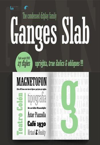 Ganges-Slab-Font-Family