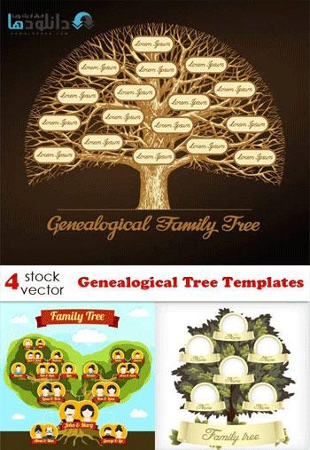 Genealogical Tree Templates Vector  دانلود مجموعه وکتور Genealogical Tree Templates