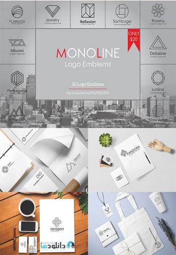 Geometric-Monoline-Logo-Emblems