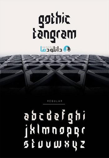 Gothic Tangram Font دانلود مجموعه فونت انگلیسی Gothic Tangram Font Family