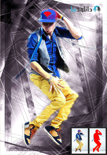 GraphicRiver Abstract Frame  دانلود اکشن فتوشاپ  GraphicRiver Abstract Frame Photoshop Action
