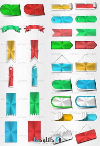 GraphicRiver.Lifetime.Web.Decors  دانلود کلیپ آرت عناصر طراحی وب، لیبل، برچسب، روبان از گرافیک ریور   GraphicRiver Lifetime Web Decors Badge Sticker Tag Ribbon Label