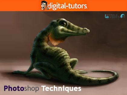 دانلود آموزش نقاشی سیاه و سفید، سایه دهی و تکنیک های رنگ آمیزی در فتوشاپ از دیجیتال تتور – Digital Tutotrs