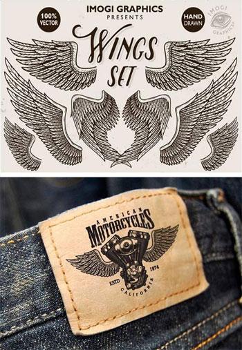 Hand-Drawn-Vector-Wings-Set
