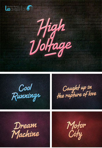 High Voltage دانلود مجموعه فونت انگلیسی High Voltage Font Family