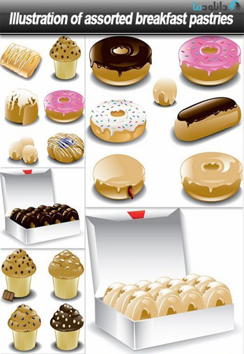 Illustration-of-assorted-breakfast-pastries