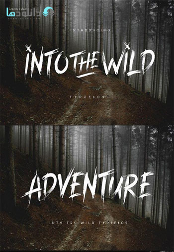 Into The Wild Typeface دانلود مجموعه فونت انگلیسی Into The Wild Font