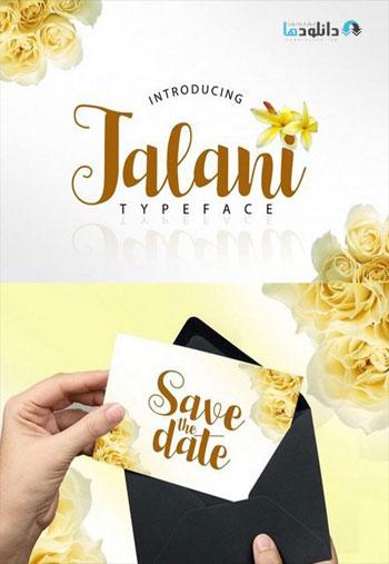 Jalani Script دانلود مجموعه فونت انگلیسی Jalani Font