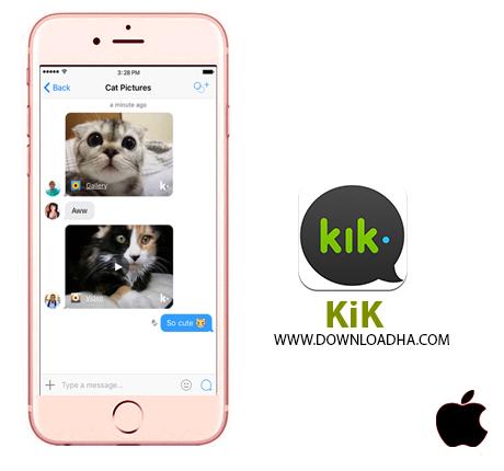 KIK  مسنجر آنلاین کیک Kik v9.2.0   آیفون