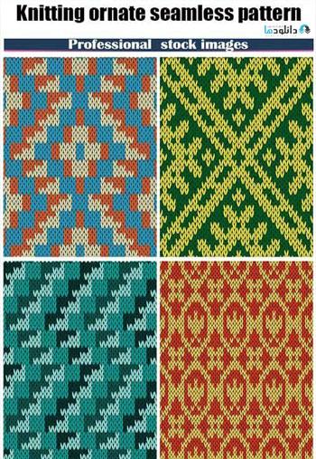 Knitting-ornate-seamless-pattern