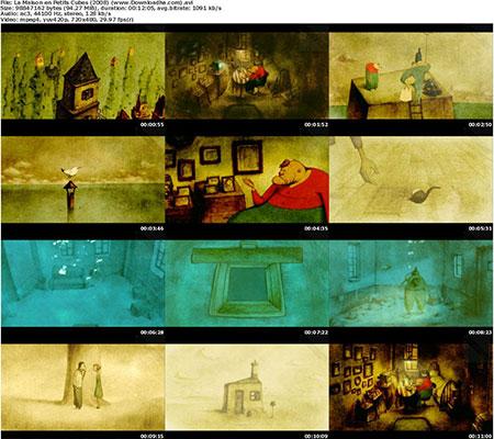 La Maison en Petits Cubes %282008%29 دانلود انیمیشن کوتاه خانه ای از مکعب های کوچک 2008 House Of Small Cubes