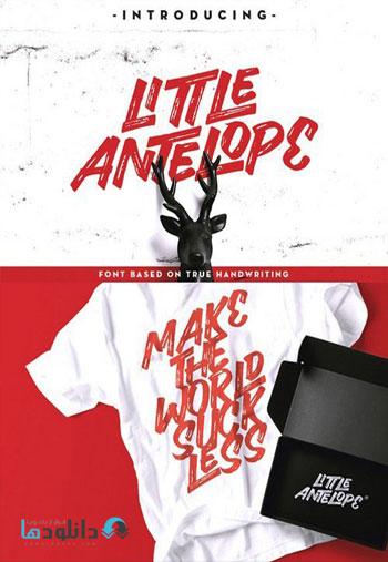 Little Antelope Font دانلود مجموعه فونت انگلیسی Little Antelope Font Family
