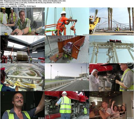 Megastructures.Ferrari.Roll دانلود مستند ابر سازه ها : رولرکوستر فراری ابوظبی  Megastructures Ferrari Rollercoaster 2013