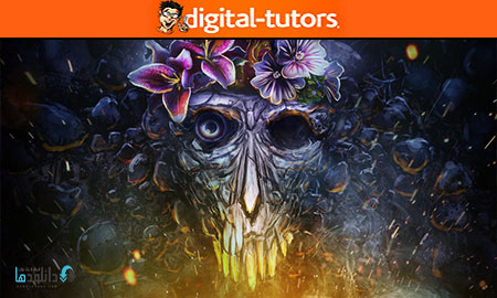 PHOTOSHOP TUTRIAL  دانلود آموزش طراحی جمجمه سورئال در فتوشاپ از دیجیتال تتور Digital Tutors Designing a Surreal Skull in Photoshop