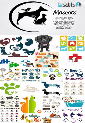 Pets Collection  دانلود تصاویر وکتور  Pets Collection