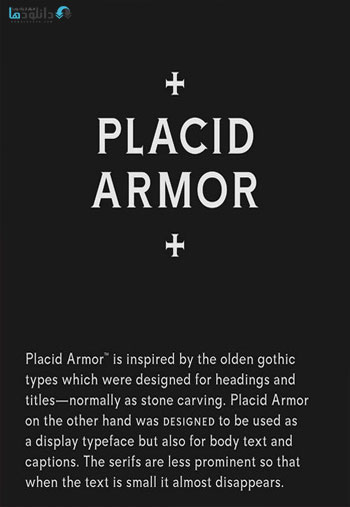 Placid-Armor-Typeface