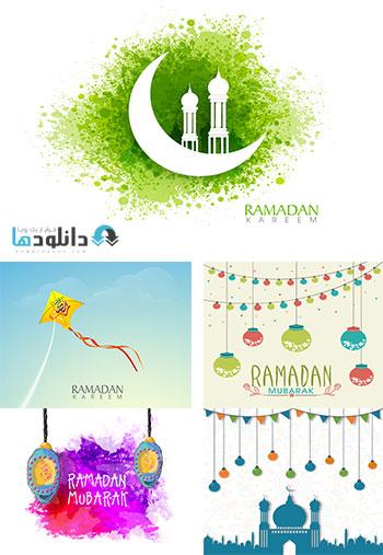 Ramadan.kareem.And.Happy.Eid.Mubarak  دانلود تصاویر وکتور ماه مبارک رمضان و عید فطر   Ramadan kareem And Happy Eid Mubarak