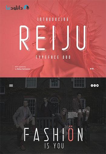Reiju Typeface Duo دانلود مجموعه فونت انگلیسی Reiju Font