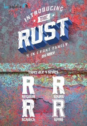 فونت انگلیسی Rust Display Fonts