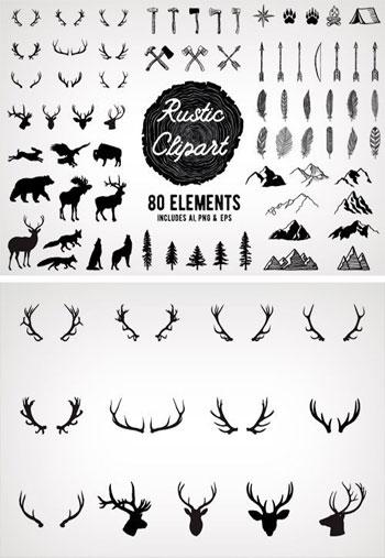 Rustic-Clipart-Designs